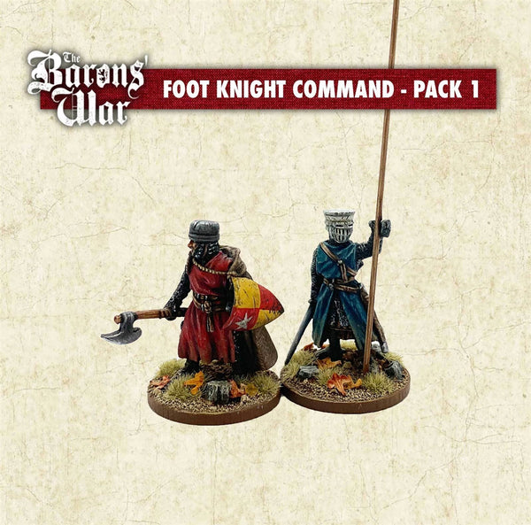 28mm Footsore Miniatures Foot Knight Command 1