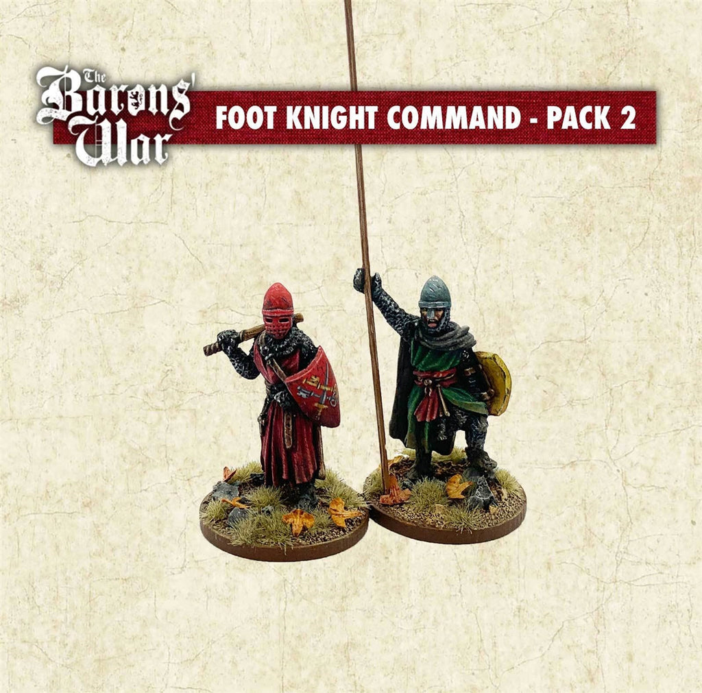28mm Footsore Miniatures Foot Knight Command 2