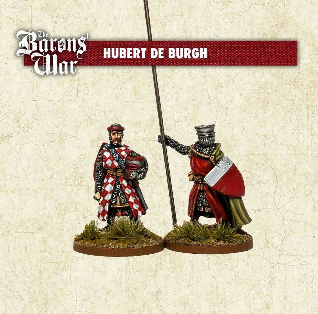 28mm Footsore Miniatures Hubert de Burgh & Bannerman