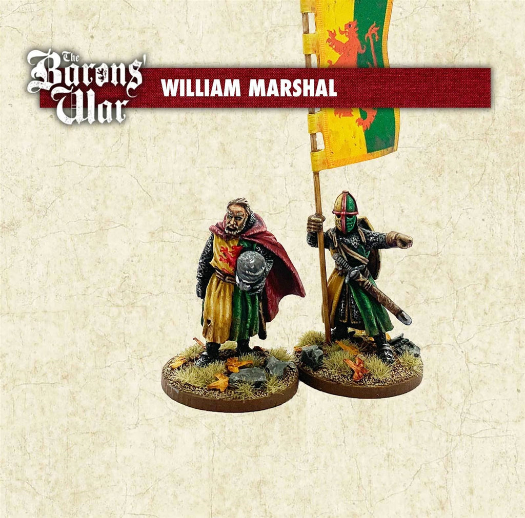 28mm Footsore Miniatures William Marshall and Banner man