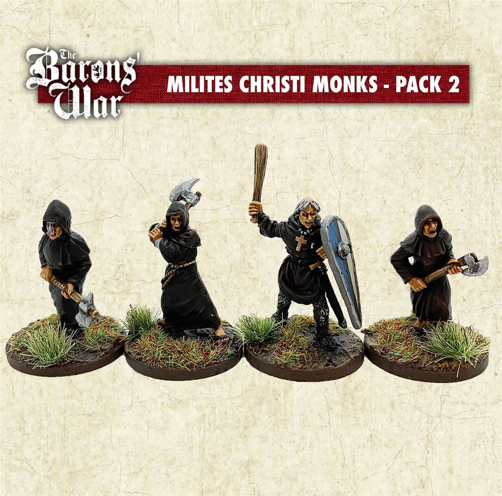 28mm Footsore Miniatures  Milites Christi Monks 2
