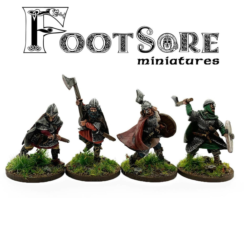 Footsore Miniatures Late Saxon Huscarls with hand weapons