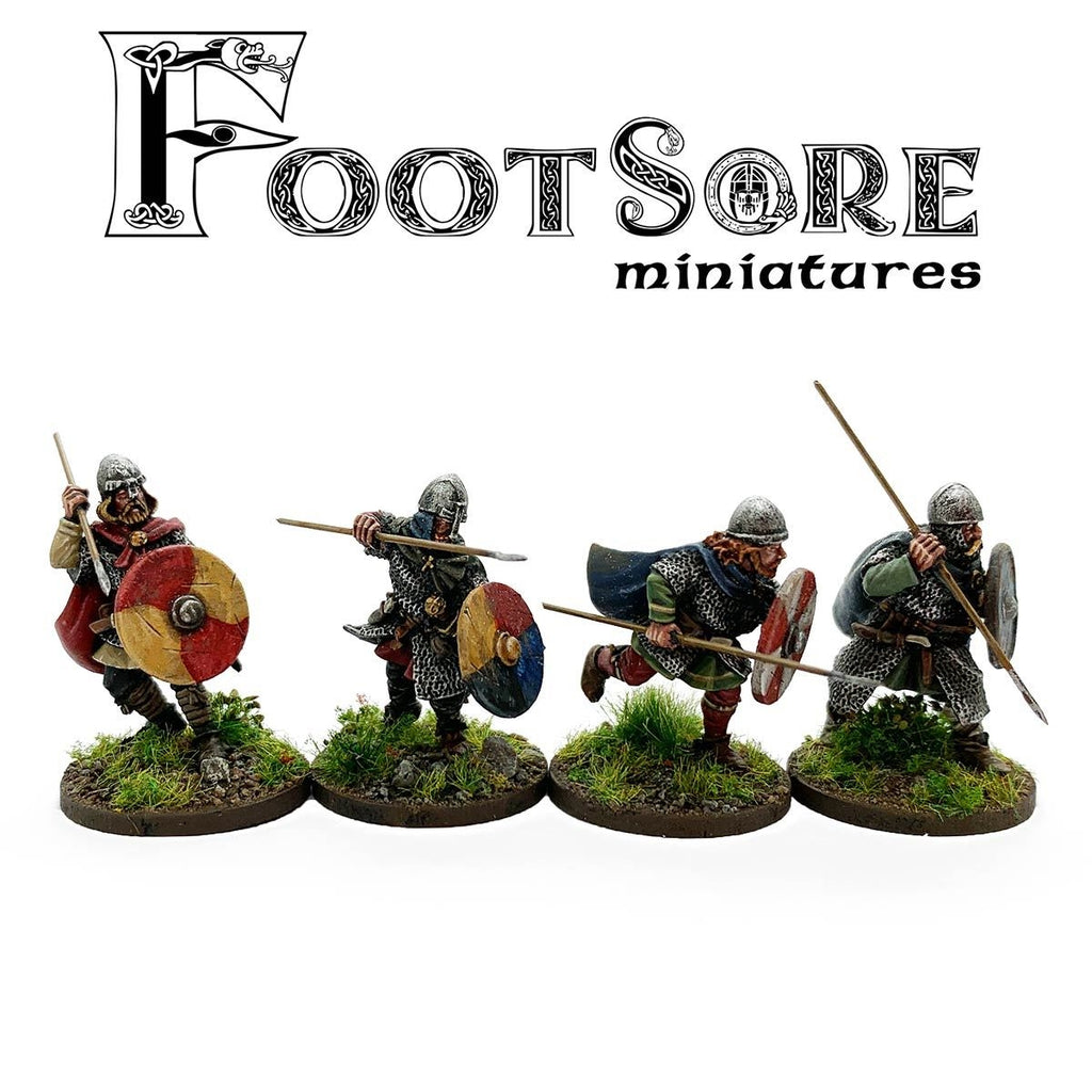 Footsore Miniatures Late Saxon Huscarls with Spears