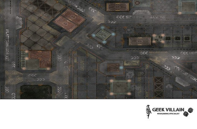 Geek Villain Wargaming Battle Mat 6x4 SiFi City