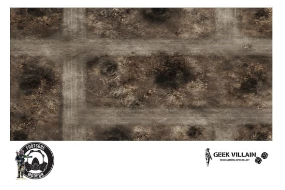 GEEK VILLAIN WARGAMING BATTLE MAT 6X4 Middle East