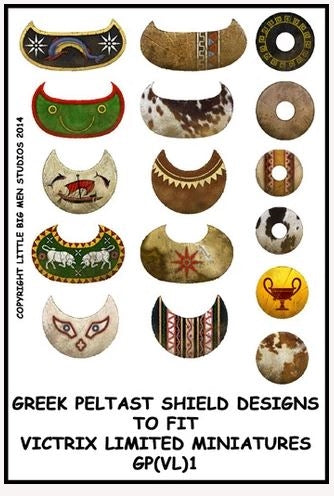 Greek Peltast shield designs 1