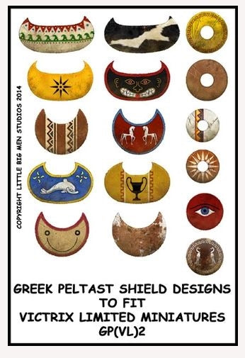 Greek Peltast shield designs 2
