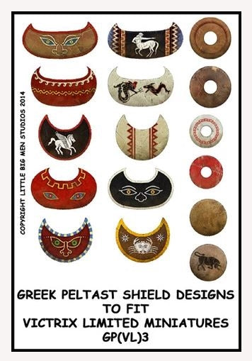 Greek Peltast shield designs 3