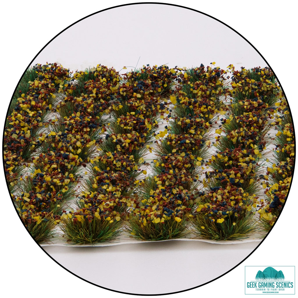 Lukes APS Mixed Flowers 6mm Self Adhesive Static Grass Tufts x 100