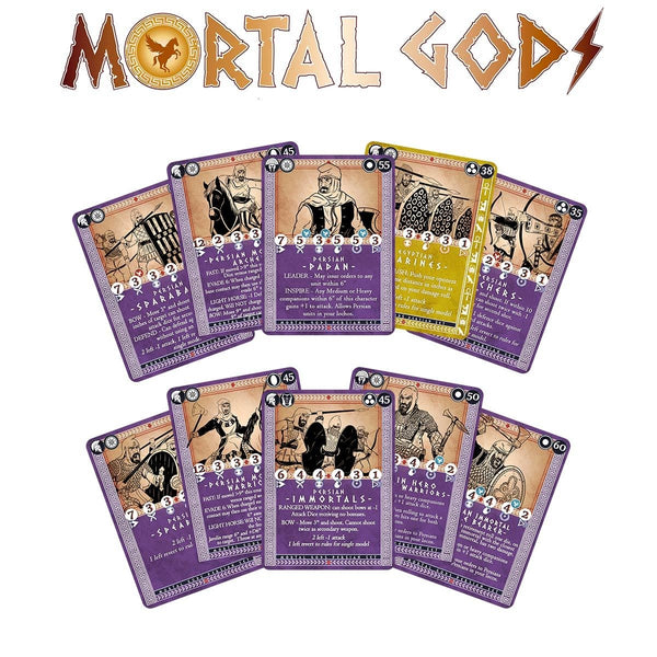 Mortal Gods Persian Roster and Gifts Card Set