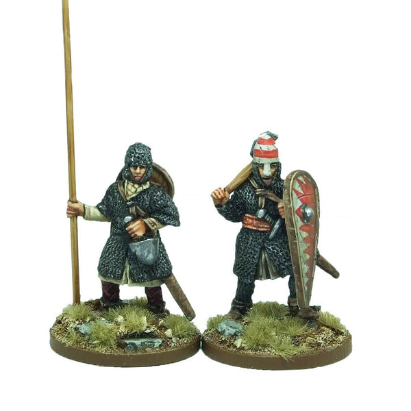 28mm Norman Warlord and Bannerman foot