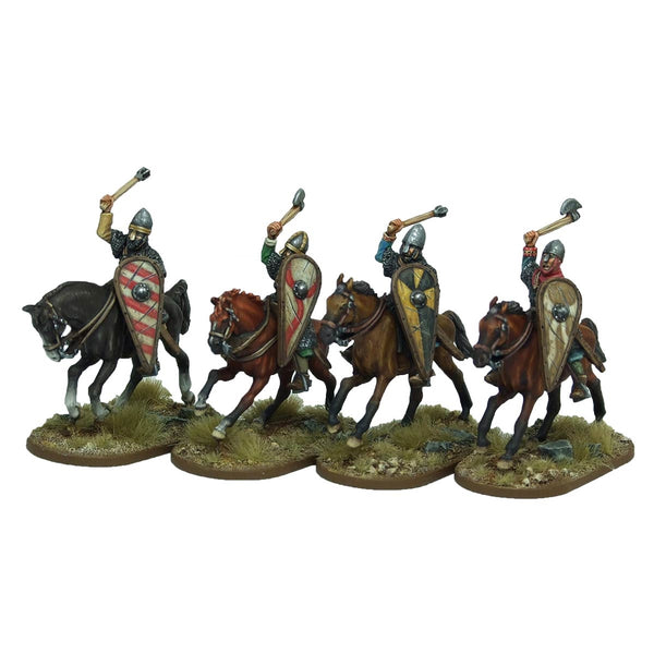 28mm Norman Cavalrymen thrusting overarm