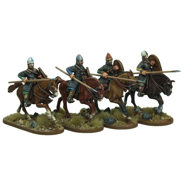 28mm Norman Cavalrymen crouched lance arms