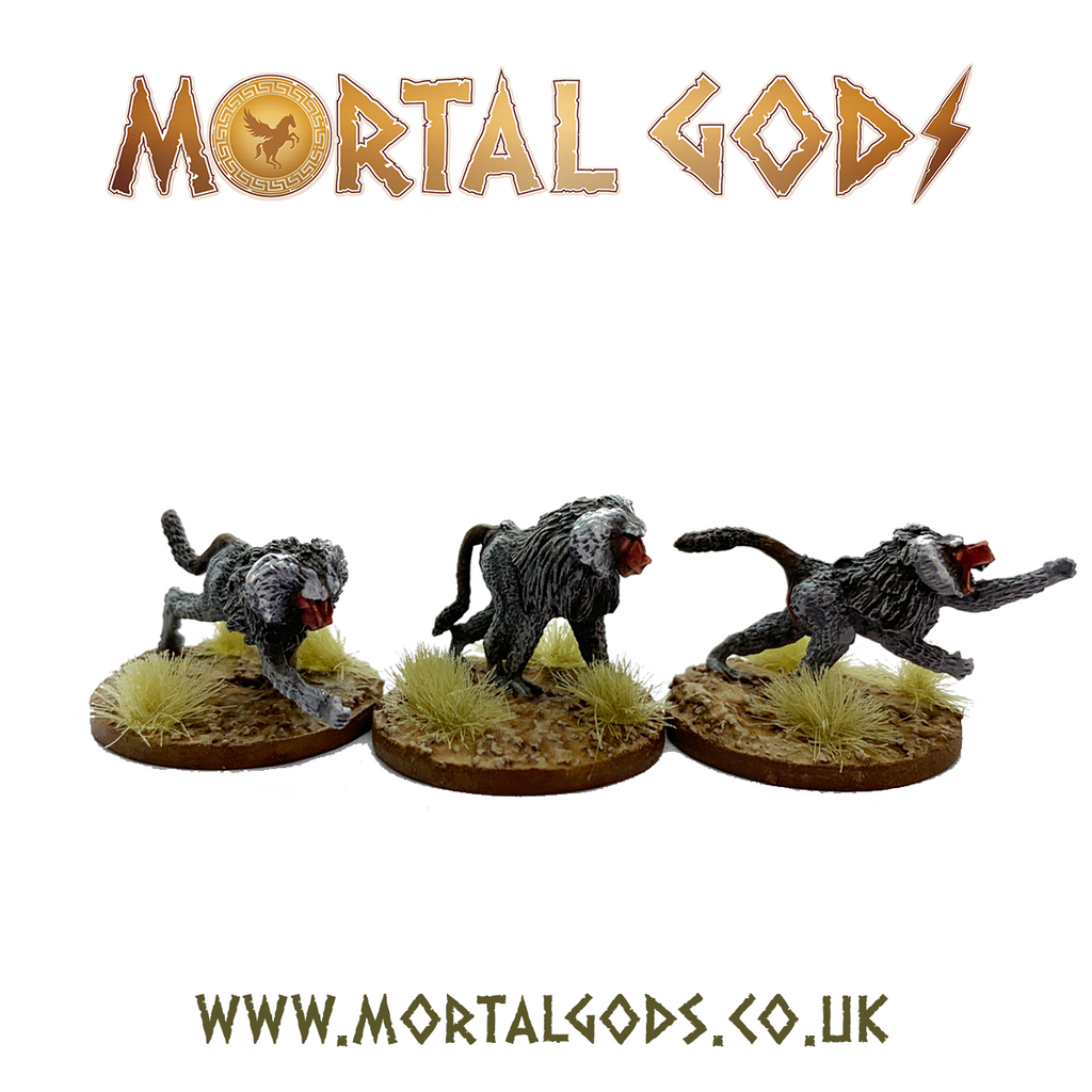 28mm Mortal Gods  Kushite Baboon Pack