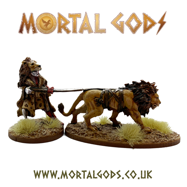 28mm Mortal Gods Kushite Priest of Apedemak and Lion