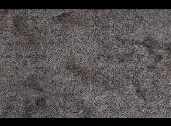 GEEK VILLAIN WARGAMING BATTLE MAT 6X4 Cobblestone