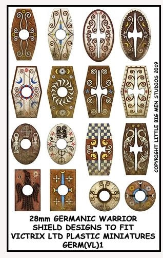 Germanic Warriors Shield Designs GERM 1