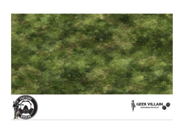 GEEK VILLAIN WARGAMING BATTLE MAT 6X4 Jungle