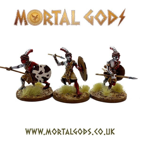 28mm Mortal Gods Kushite Warriors