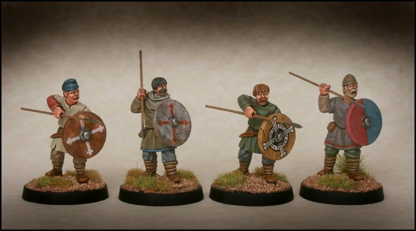 28mm Late Saxon Fyrd Warriors 2