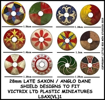 Late Saxon  Anglo Dane Shield Designs LSAX 1