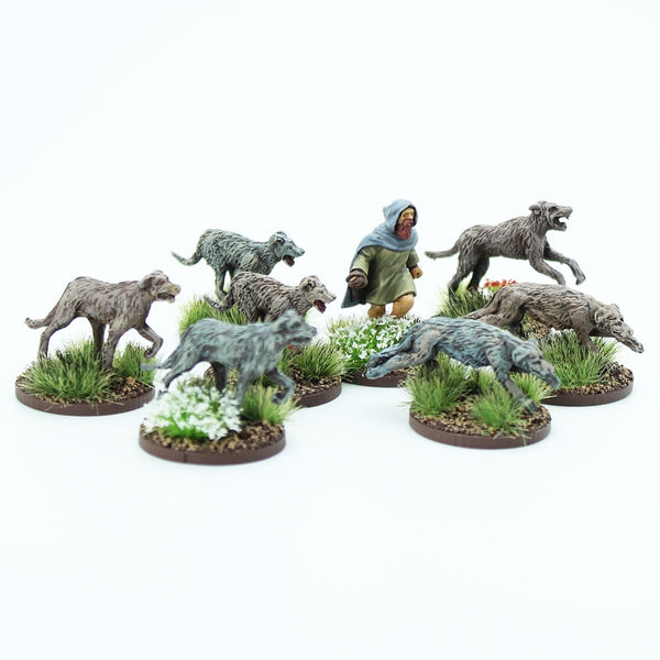 28mm Picts/Scots Handler and Warhounds