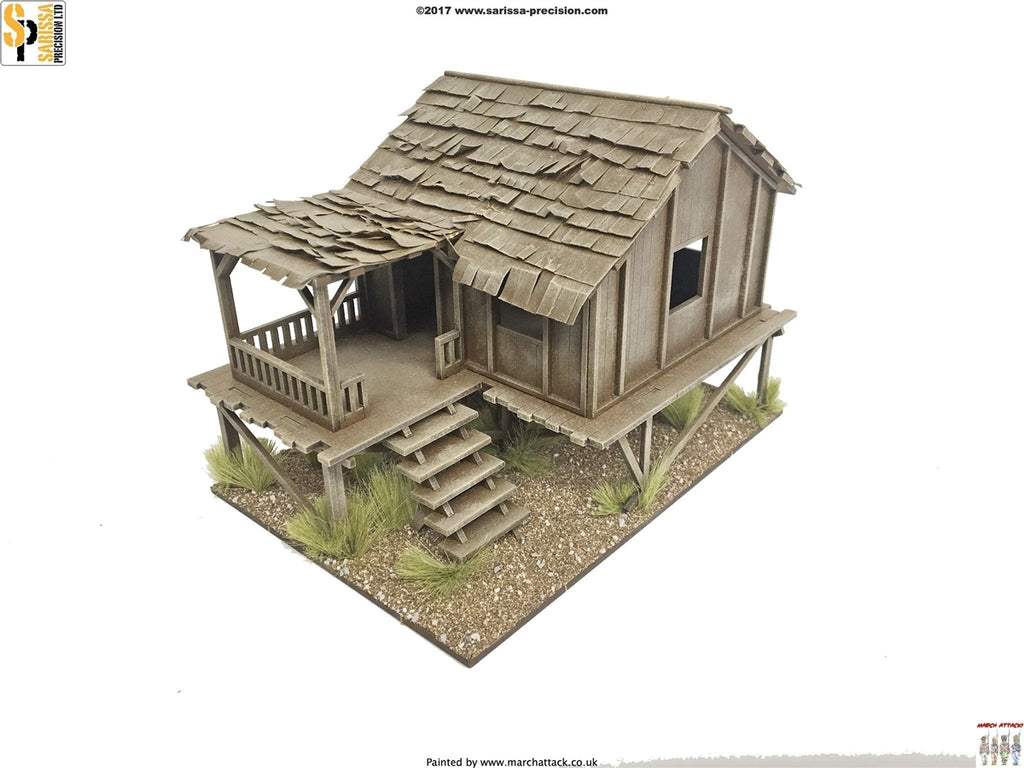28mm Modern Planked-Style Village House