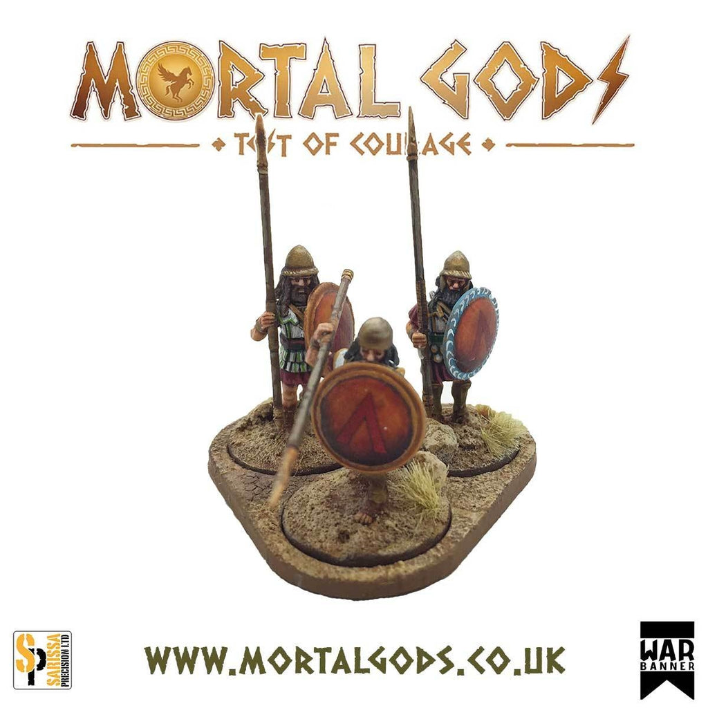 28mm Mortal Gods Hoplite Group Base Set