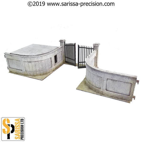 28mm Modern Embassy Security Checkpoint & Gate Set
