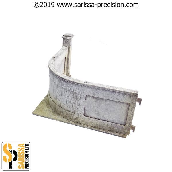 28mm Modern Embassy Corner Walls Pack