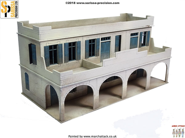 28mm Modern Two-Storey Souk Building