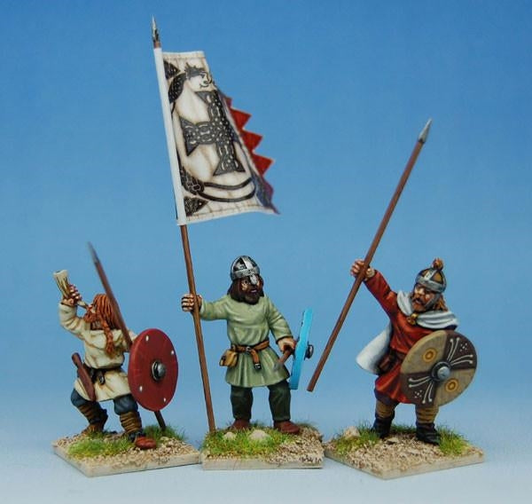 28mm  Early Saxon Infantry Command