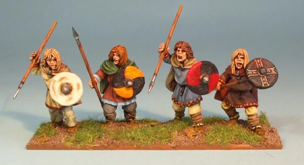 28mm Young Saxon Warriors