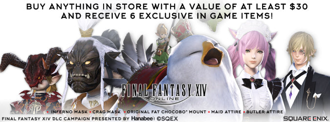 Spend over $30 and get 5 free items for Final Fantasy XIV