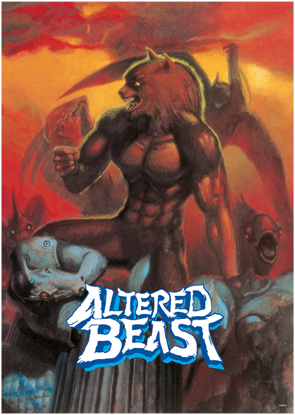 SEGA Altered Beast 250GSM A1 Poster