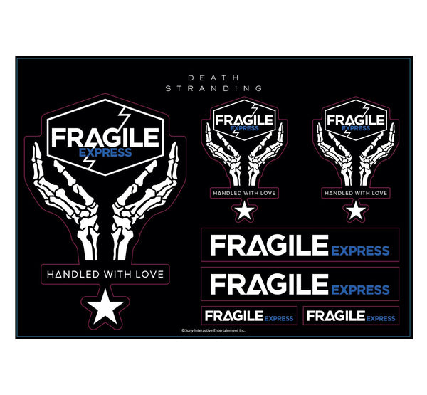 Death Stranding Fragile Express Sticker Set (A4)