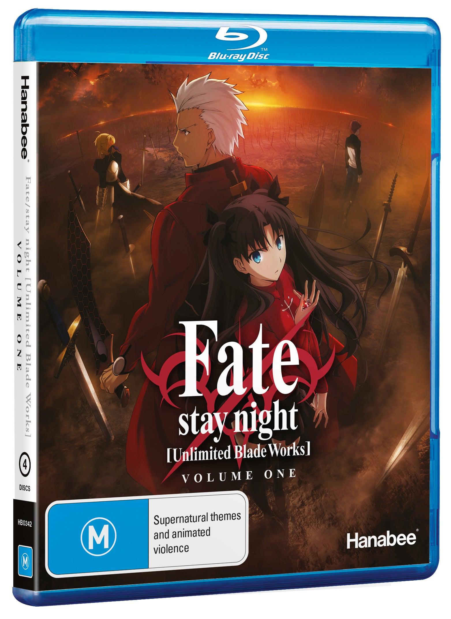 fate stay night unlimited blade works part 1 std ed blu ray