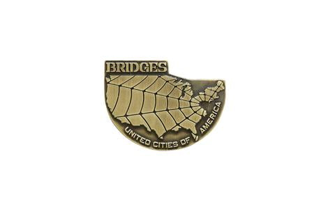 Death Stranding Bridges Brass Coloured Metal Pin