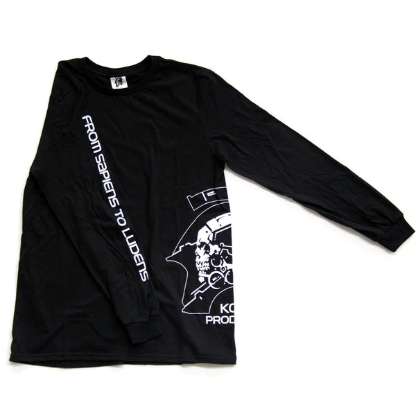 Kojima Productions Black Long Sleeve Side Logo Tee