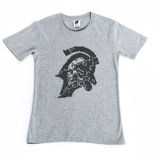 Kojima Productions Black Pixel on Grey T-Shirt
