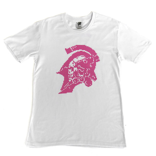 Kojima Productions Pink Pixel on White T-Shirt
