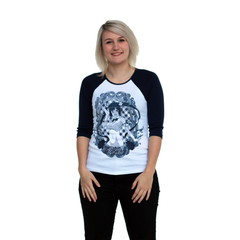 IS IT WRONG...HESTIA WOMEN'S NAVY RAGLAN