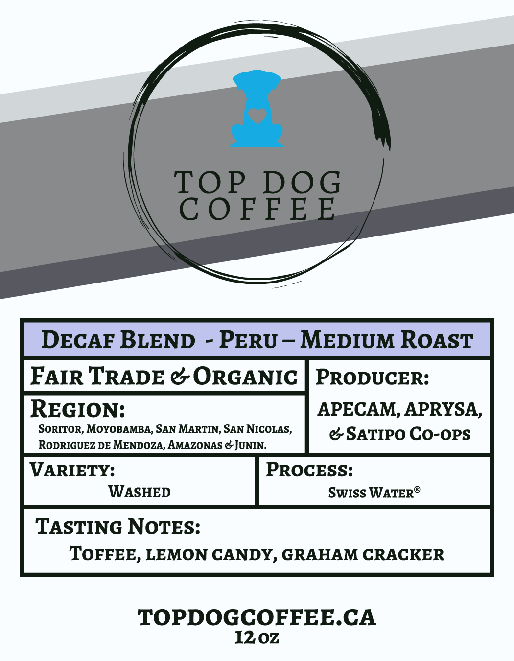 Peru Decaf Blend Medium Roast