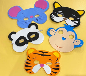 Assorted Jungle Foam Animal Masks - pack of 4 masks