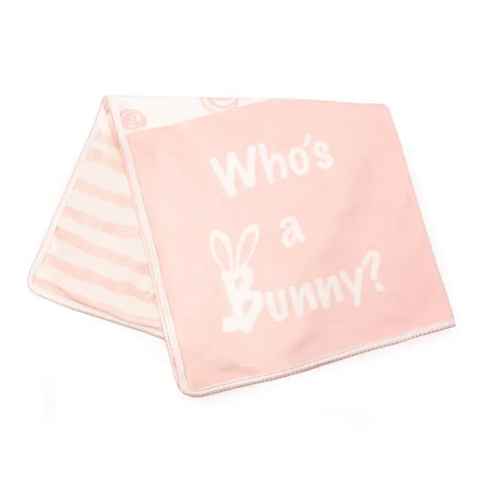 Blossom Who's A Bunny Receiving Blanket 28 x 28