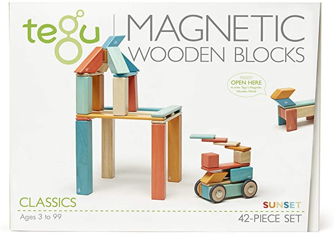 42 Piece Magnetic Block Set In Sunset