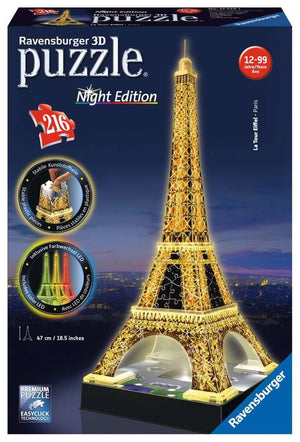 Eiffel Tower- Night Edition 216 Piece Puzzle