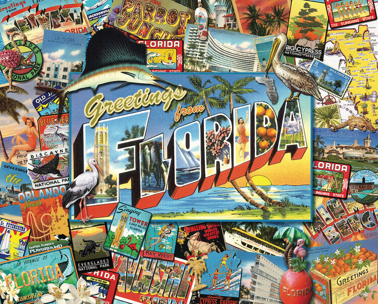 Greetings From Florida 1000 pc Puzzle