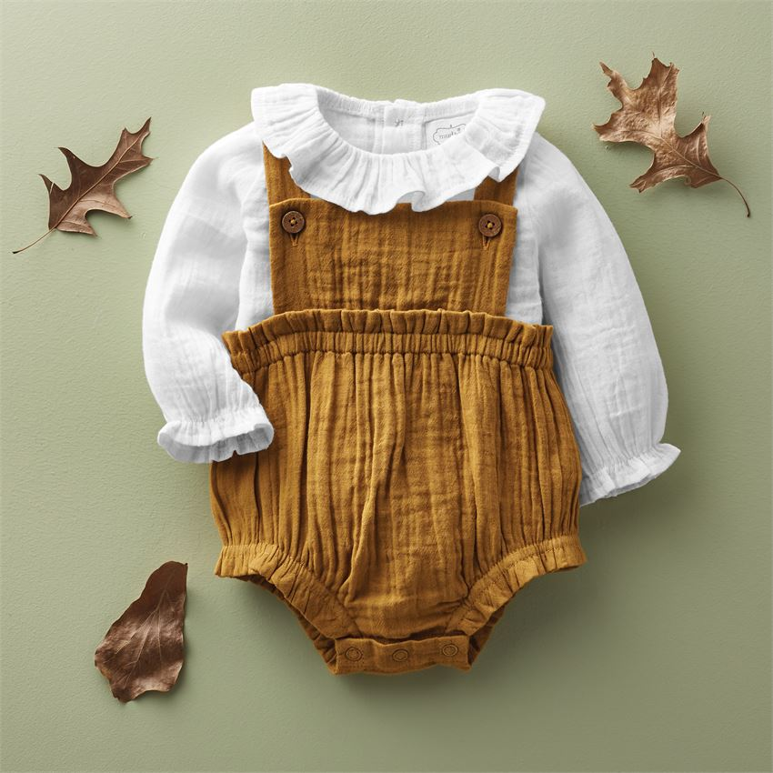 Fall Baby Overall Set