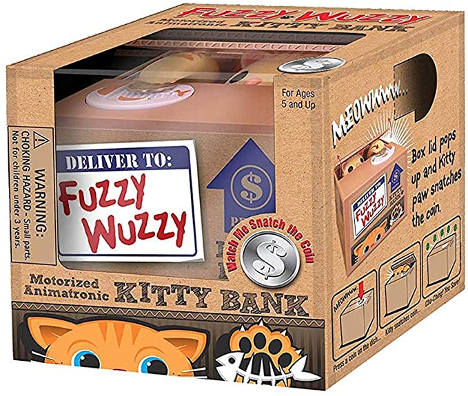 Fuzzy Wuzzy Motorized Kitty Bank